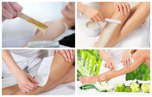 como depilar con cera caliente las piernas
