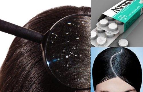 aspirinas en el shampoo para la caspa