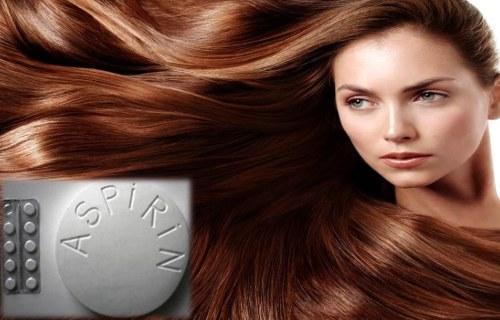 aspirina en el shampoo para el cabello