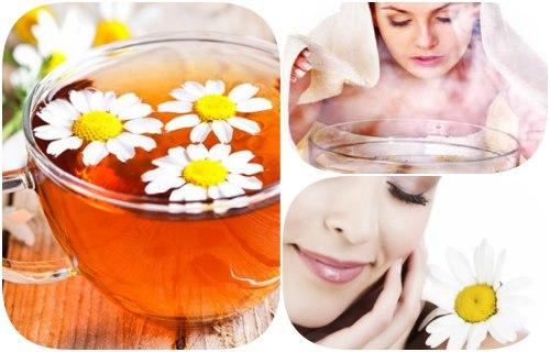 manzanilla para manchas de acne