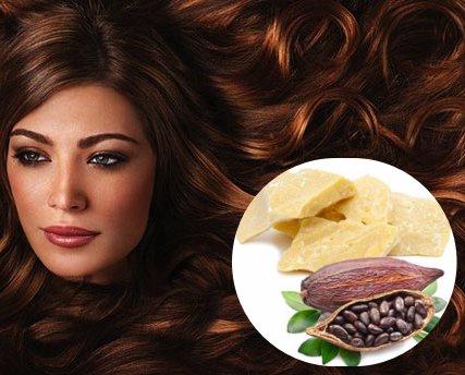 manteca de cacao para proteger el cabello