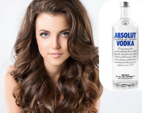 resultados del vodka en el pelo