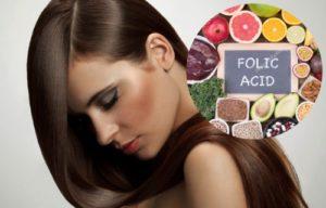 acido folico para el crecimiento del cabello