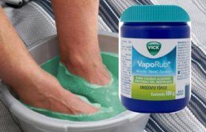 como utilizar vick vaporub para los pies