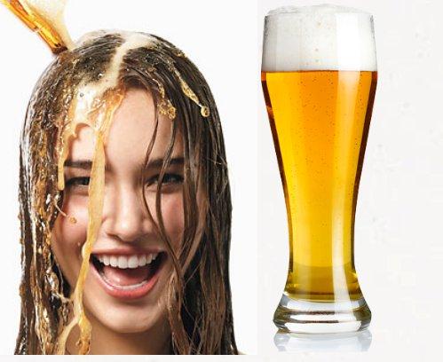 cerveza para el crecimiento del cabello