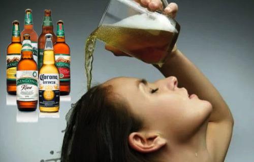 cerveza para alisar el cabello