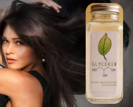 glicerina en el pelo maltratado
