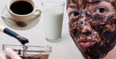 cómo preparar la mascarilla de café con leche