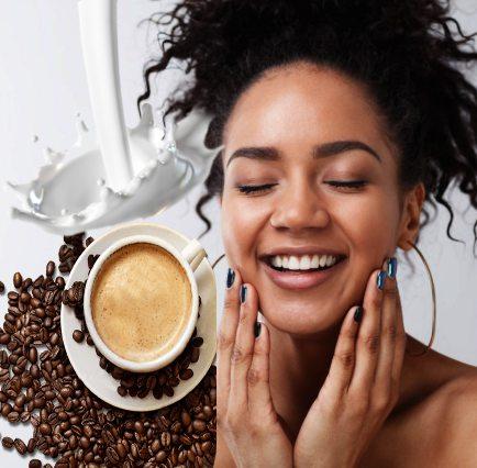 mascarilla de café con leche y miel