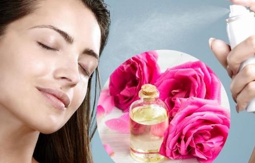 cómo usar el agua de rosas