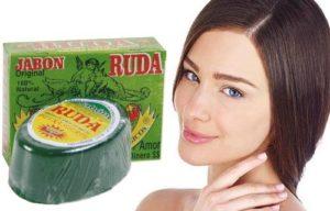 jabón de ruda para el acné