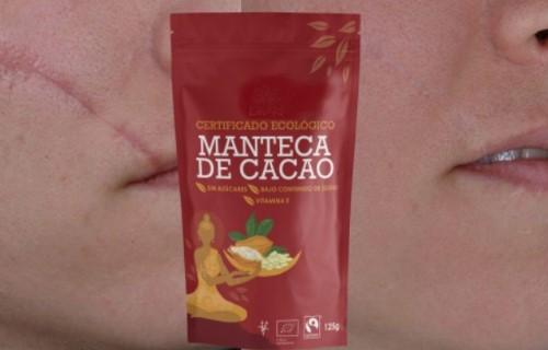 aplicar manteca de cacao para las manchas