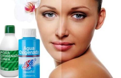 aclarar la piel con agua oxigenada