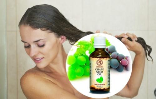 para qué sirve el aceite de uva en el pelo