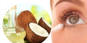 como aplicar aceite de coco en las pestañas