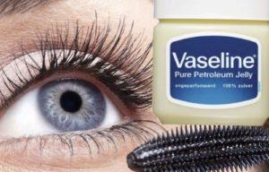 como aplicar vaselina en las pestañas