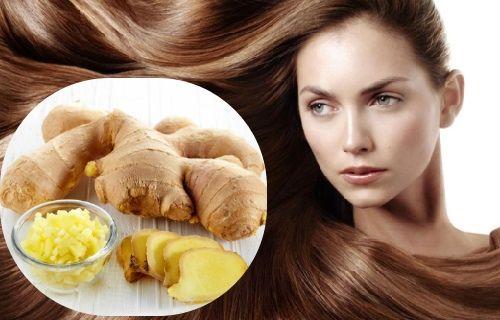 El jengibre para el cabello