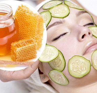 mascarilla de pepino y miel para la cara